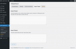 Page screenshot: YellowPencil → Import/Export