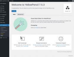 Page screenshot: YellowPencil → About