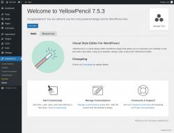 Page screenshot: About ‹ Test site — WordPress