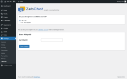 Page screenshot: Settings → ZebChat